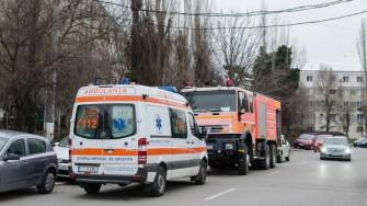 Polițiștii, pompierii și ambulanța a intervenit la solicitare. FOTO Cătălin Schipor