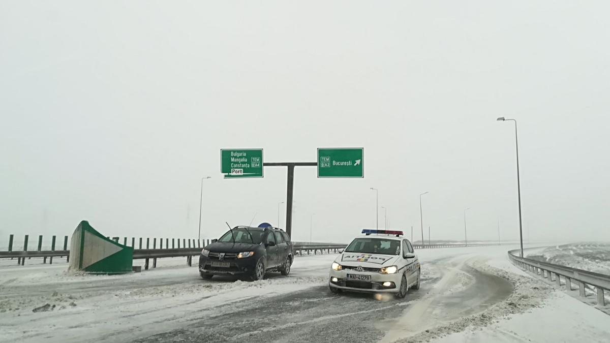 Autostrada A2 inchisa politie filtru rutier