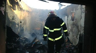 Pompierii au reușit lichidarea incendiului. FOTO ISU Dobrogea