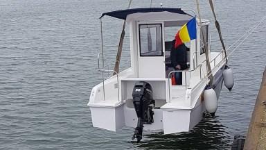 """Administraţia Canalelor Navigabile S.A a lansat la apă ambarcaţiunea de măsuratori hidrografice """"IULIA""""."""