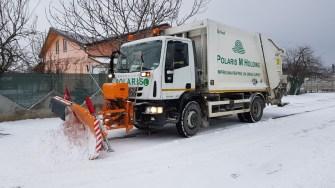 Angajații Polaris au intervenit pentru a menține drumurile practicabile. FOTO Primăria Mangalia