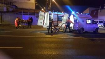 Victimele accidentului au fost preluate de echipaje medicale ale SAJ