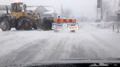 Drumul a fost închis circulației publice