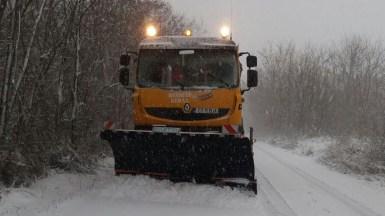 Iarna s-a întors în județul Constanța.
