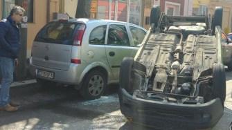 Accident pe strada Constantin Brătescu din Constanța. FOTO ISU Dobrogea