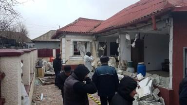 Explozia a distrus întreaga casă, devenind de nelocuit. FOTO ISU Dobrogea