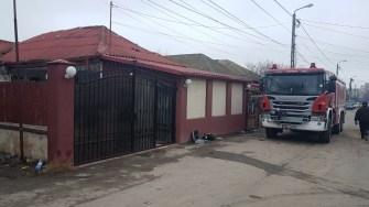 La locul exploziei a fost trimis un echipaj al ISU Dobrogea de la stația Midia. FOTO ISU Dobrogea