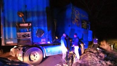 La locul producerii accidentului au fost găsite trei victime încarcerate. FOTO SAJ Constanța