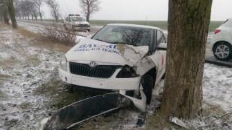 Neadaptarea vitezei și atenției la condițiile de drum a dus la producerea mai multor accidente rutiere. FOTO IPJ Constanța