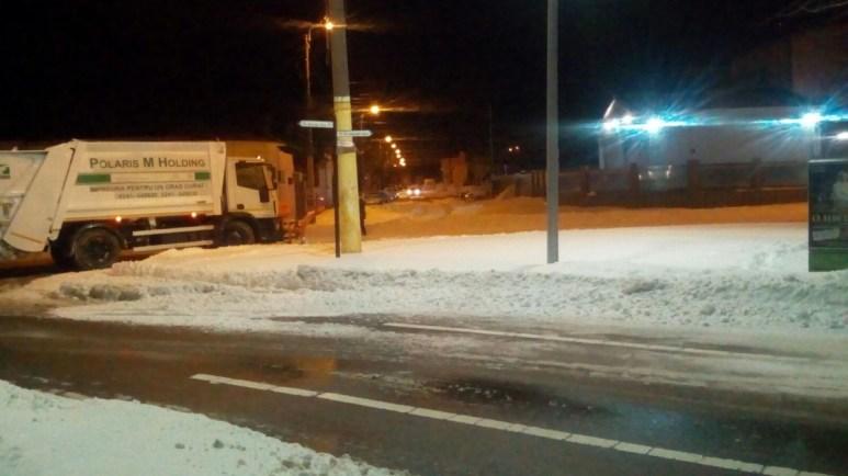 Zăpadă începe să dispară de pe principalele artere din Constanța. FOTO Primăria Constanța