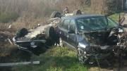 Accident cu victime multiple pe drumul spre Mangalia. FOTO Ambulanța Constanța