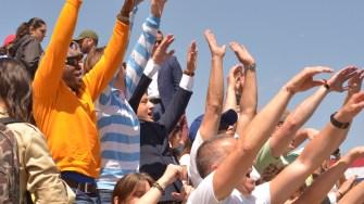 Entuziasmat, Decebal Făgădău a făcut valuri. FOTO Cătălin SCHIPOR
