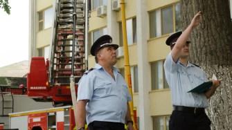 Conducerea ISU Dobrogea a evaluat timpii și modul de intervenție. FOTO Cătălin SCHIPOR