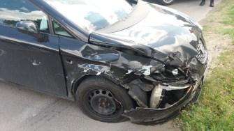 O clipă de neatenție a dus la un accident. FOTO IPJ Constanța