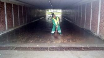 S-a intervenit pentru limitarea efectelor inundațiilor. FOTO Primăria Constanța