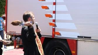 Mașină de pompieri pentru comuna Saraiu. FOTO Adrian Boioglu