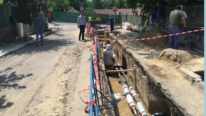 Lucrări pentru rețeaua de termoficare de la Cernavodă. FOTO CTnews.ro