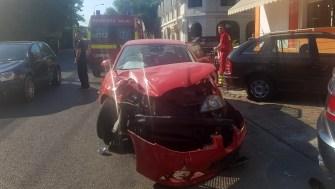 Neacordarea de prioritate a dus la un accident rutier. FOTO ISU Dobrogea