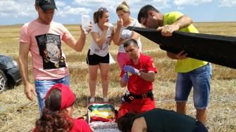Victimele accidentului au primit primul ajutor medical