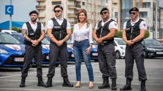 Corina Martin și echipa One Star Security. FOTO Ștefan Ciocan
