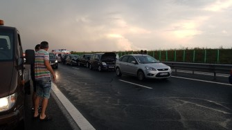 Accident pe Autostrada A2. FOTO DRDP Constanța