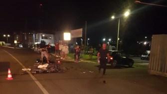 Accident mortal de motocicletă în Valu lui Traian. FOTO IPJ Constanța