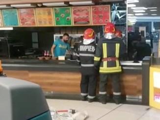 Incendiu la City Park Mall Constanța. FOTO Captură Video ISU Dobrogea
