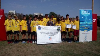 Echipa U12 de minirugby din Cumpăna a ajuns vicecampioană națională. FOTO Primăria Cumpăna