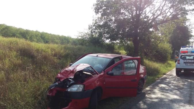 În urma accidentului, o persoană a fost rănită. FOTO SAJ Constanța