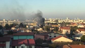 Focul a izbucnit de la un scurt circuit electric. FOTO ISU Dobrogea