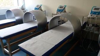 Au fost schimbate dotările Secției de Balneofizioterapie, vechi din 1968. FOTO SCJU Constanța