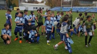 Rugbyștii U10 de la CS Ovidiu au reușit să se impună în fața a două echipe. FOTO CS Ovidiu