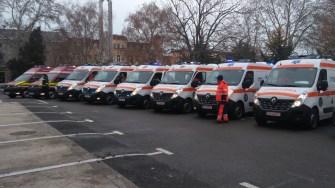 Ambulanțele noi, intrate în dotarea Serviciului Județean și SMURD. FOTO CTnews.ro