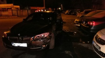 Mașina scăpată de sub control a provocat mari pagube. FOTO IPJ Constanța