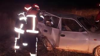 Accident rutier la Gura Dobrogei. FOTO ISU Constanța
