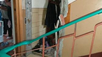 O puternică explozie a avut loc într-un bloc din municipiul Constanța. FOTO ISU Dobrogea