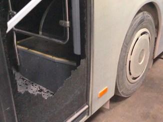 Autobuz RATC vandalizat la Constanța. FOTO Primăria Constanța