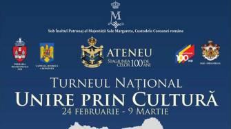 """Turneul Național """"Unire prin Cultură"""" inițiat de Ateneul din Iași."""