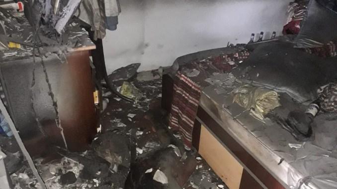 Camera unde au fost găsite persoanele decedate de la Ghindărești. FOTO SAJ Constanța