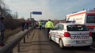 Traficul rutier a fost dat peste cap din cauza unui accident rutier. FOTO IPJ Constanța