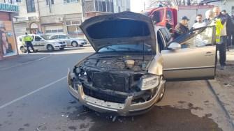 Mașina condusă de către șoferul neatent. FOTO ISU Dobrogea