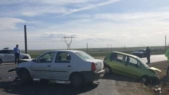Neacordarea de prioritate a dus la producerea unui accident rutier. FOTO IPJ Constanța