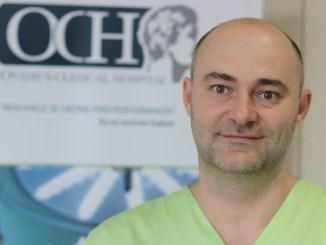 Dr. Gabriel Serac, chirurg la Ovidius Clinical Hospital. FOTO Adrian Boioglu