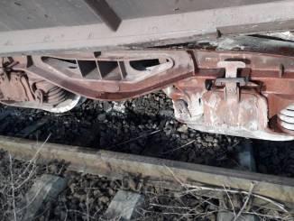 Tren deraiat între Lumina și Ovidiu. FOTO SRPT - TN Năvodari