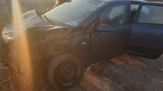 Graba și neatenția șoferului au dus la producerea unui accident rutier. FOTO IPJ Constanța