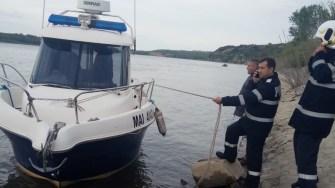 Un echipaj al Poliției Transporturi s-a alăturat misiunii de căutare. FOTO IPJ Constanța