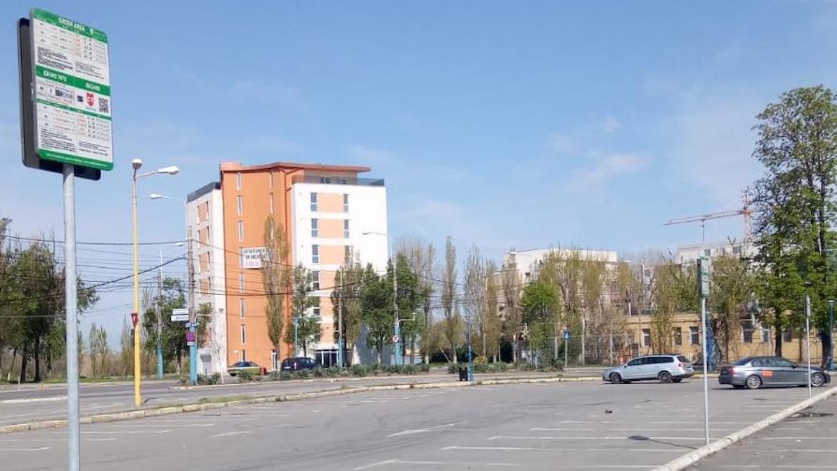 Parcare scumpă în Mamaia. FOTO PMC