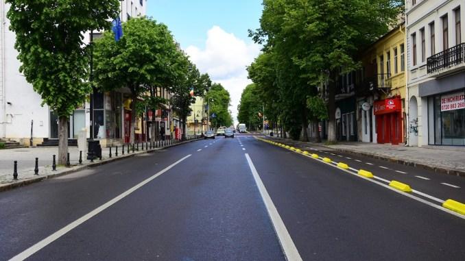 Bulevardul Tomis din Constanța, închis pentru autoturisme cu ocazia Zilei Europei. FOTO Primăria Constanța