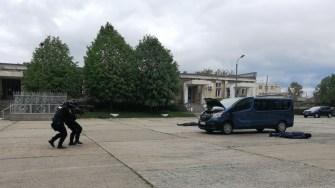 Jandarmii au intervenit în forță. FOTO GJM Tomis