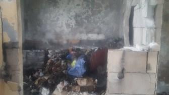 Locuința a fost distrusă de incendiu. FOTO ISU Dobrogea